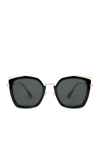ASLLY black and gold Bastet's Eye│Black Cat-Eye Sunglasses 0E9D8GL3C2042AGS_1