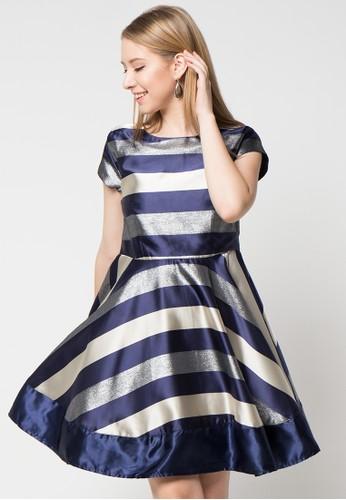 Chanira blue and silver Diva Dress CH930AA62LCZID_1
