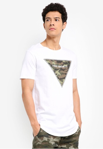 Factorie white Curved Tail Tee 397A0AA24542D7GS_1