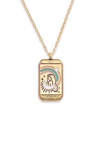 Trinkets for Keeps gold Tarot Card Queen Necklace C54D4AC8E0DF22GS_1