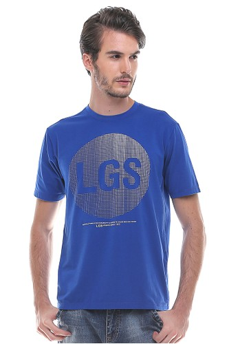 LGS blue LGS - Slim Fit - Kaos Fashion - Round Neck - Sablon LGS - Biru 2DF68AAF448D6DGS_1