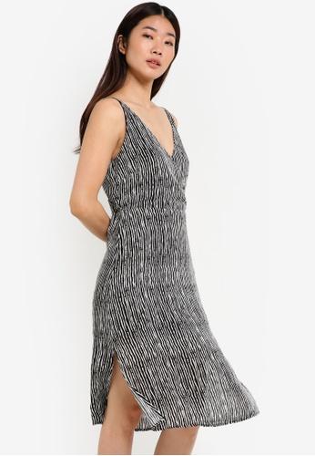 ZALORA black Collection Wrap Front Dress 4D663AA414C3ECGS_1