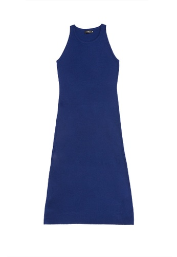 KLAPS navy Solid Tone Maxi Knitted Dress E656EAAA3947E5GS_1