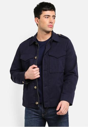 MANGO Man 藍色 口袋外套 24C3FAAEDE384FGS_1