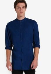 Selected Homme blue Long Sleeve Shirt SE364AA78EGRMY_1