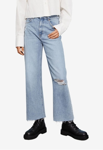 H&M blue Wide High Ankle Jeans 967DCAA64BF8CDGS_1