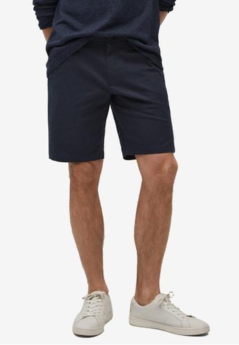 MANGO Man 藍色 and 海軍藍色 Chino Bermuda Shorts D976FAAF31FF86GS_1