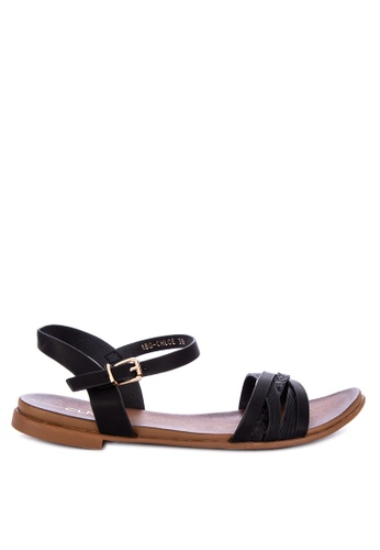 Shop CLN Chloe Flat Ankle Strap Sandals Online on ZALORA Philippines