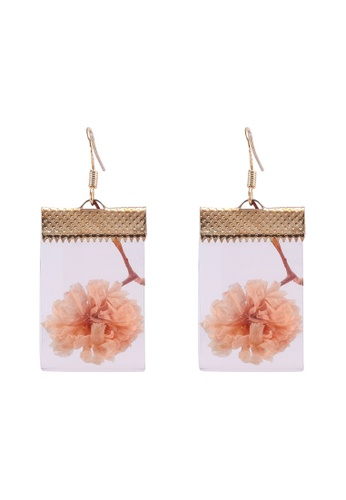 Saturation multi Save the Dried Flower Earrings 17D0DACC77192FGS_1