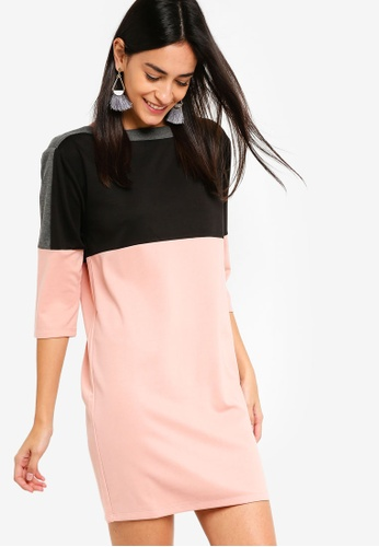ZALORA multi Stripe Blocking Knit Dress 819D1AAEEEBD4BGS_1