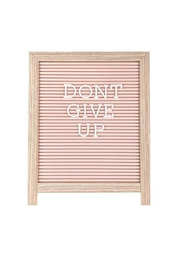 Klosh pink Letter Board - Light Wood Easel with Pink Plastic F0C99HL9F8D469GS_1