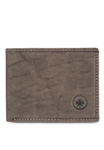 Lumberjacks 暗紋對折皮夾,esprit 京站 飾品配件, 皮革