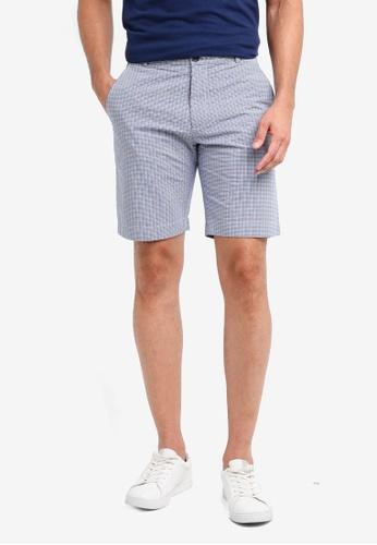 Brooks Brothers blue Red Fleece Seersucker Navy Shorts 91D18AA3FE689AGS_1