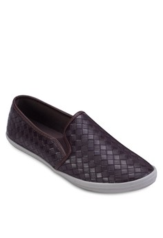 Embossed Faux Leather Slip On