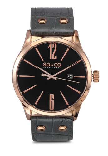 SO&CO grey and gold Madison Watch 5098 SO540AC0SHMFMY_1
