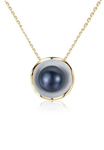A.Excellence black Premium Black Pearl Elegant Necklace 9D860AC49CF6EFGS_1