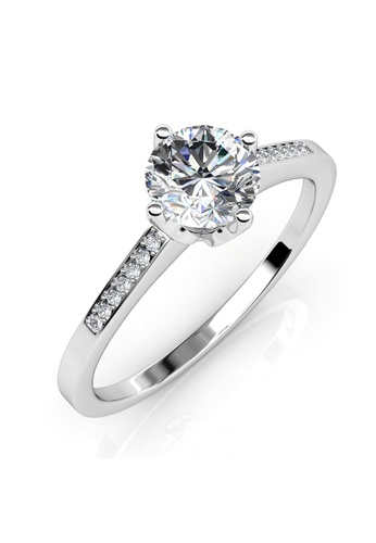 Her Jewellery silver Princess Ring - Made with premium grade crystals from Austria 13161AC4E108BEGS_1