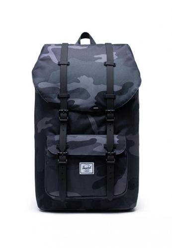 Herschel black Little America Backpack 413D0AC28D2604GS_1