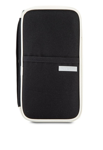 Bagstationz black Hand Grab Travel Zip-Up Passport Wallet BA607AC91LQMMY_1