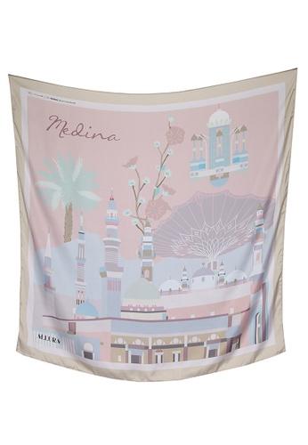 Modest-Runway Inc. pink and multi ALLURA My Favorite City Medina COTTON Scarf/Hijab D5E77AA363A9C6GS_1