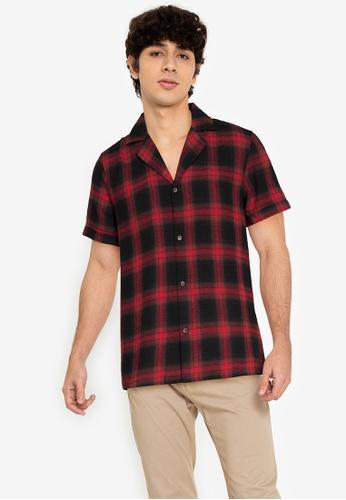 ZALORA BASICS multi Checkered Bowling Shirt AED62AAFDB018AGS_1