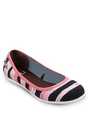 Mandy 條esprit 台灣官網紋平底鞋, 女鞋, 鞋