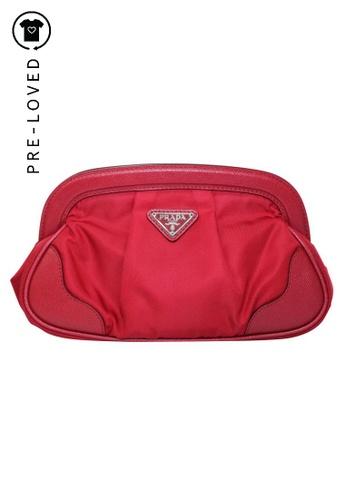 Prada red Pre-Loved prada Red Framed Clutch E168DAC7299420GS_1