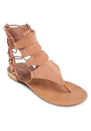 Athezalora 心得na 鏤空側繫帶涼鞋, 女鞋, 涼鞋