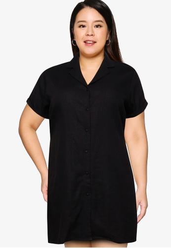 Cotton On black Curve Shirt Dress E6893AA0E48AA9GS_1