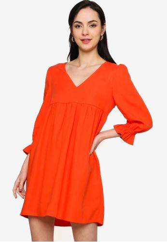 Origin by Zalora orange Babydoll Dress made from TENCEL™ AF00EAAA5864D3GS_1