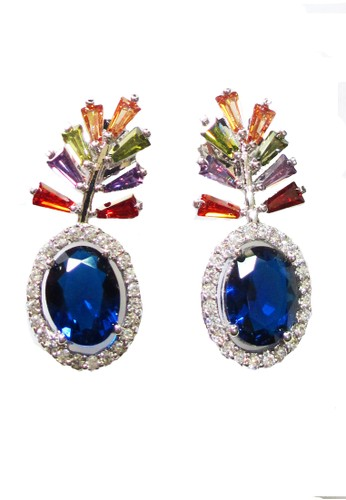 San Marco blue Lolite Earring Blue SA720AC0WSD3ID_1