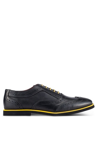 Acuto black Leather Brogues AC283SH0S2AUMY_1