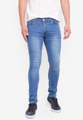 Fidelio 藍色 緊身彈性牛仔褲 D933CAA32677EEGS_1