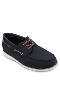Faux Leather Boatshoes