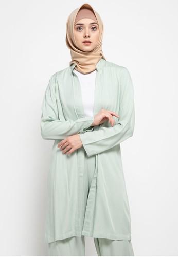 Aira Muslim Butik green Anggara Outer E4366AA4621BCCGS_1