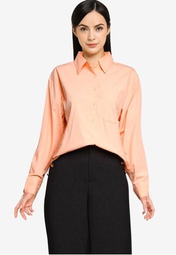 LC Waikiki orange Pocket Detailed Poplin Shirt 46883AAA38F6A6GS_1