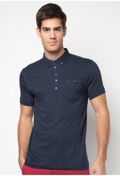 Bench Men's Slub Polo Shirt