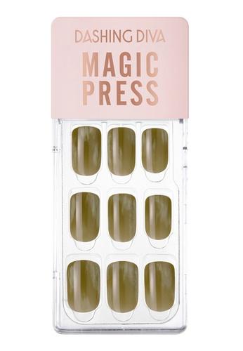 Dashing Diva green Dashing Diva 1 SEC. MAGIC PRESS Manicure Vintage Deep Khaki/ Press on Nails /Nail Tips D1413BEFC4CB16GS_1
