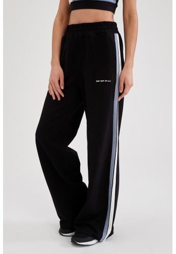 DeFacto black Wide Leg Athleisure Sweatpants BC3B3AAC30A415GS_1