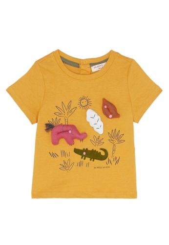 Du Pareil Au Même (DPAM) yellow Savannah T-Shirt E023DKA91E016FGS_1