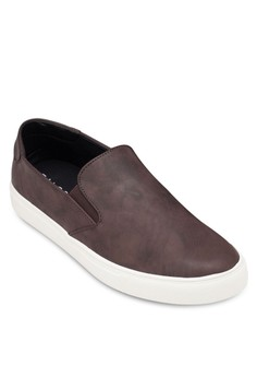 Faux Leather Slip On