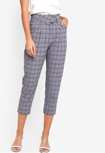 ZALORA grey Tailored Trousers B4869AA7A6D688GS_1
