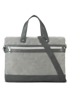 Grey Textured Workbag