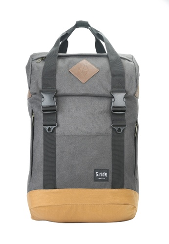 G.ride grey and beige Arthur S Backpack 93BE0ACB49429CGS_1