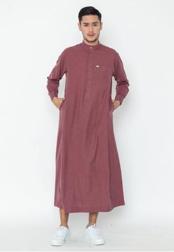 AL-LUTHFI red Jubah Lengan Panjang Hafiz - Red C5835AA2B70049GS_1