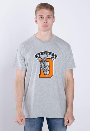 Diesel grey T-DIEGO-B4 MAGLIETTA T-Shirt 1F492AAD5537D3GS_1