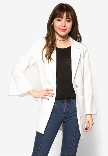 荷葉飾長袖外套, 服飾, 外esprit 折扣套