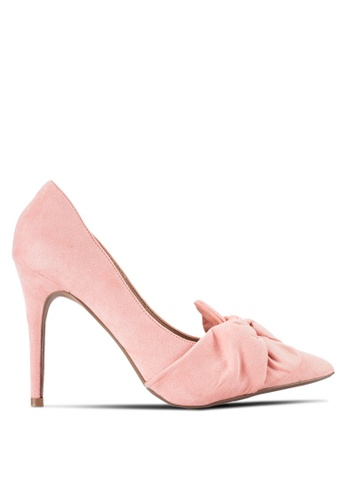 Dorothy Perkins pink Pink Gotcha Twisted Bow Court Heels DO816SH88QXBMY_1