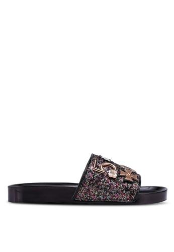 Public Desire black Beachin Sandals 41BA0SH1F20EF2GS_1