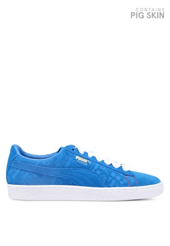 more photos 38a65 b25c9 Puma Select yellow and blue Suede Classic Paris Shoes 4C352SH9546FCEGS 1